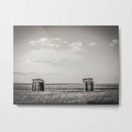 Outhouses, Pleasant View, Montana Metal Print
