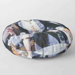 A BAR AT THE FOLIES-BERGERE - EDOUARD MANET  Floor Pillow