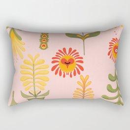 Retro Garden Rectangular Pillow