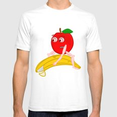 Osteopath Fruit SMALL Mens Fitted Tee White