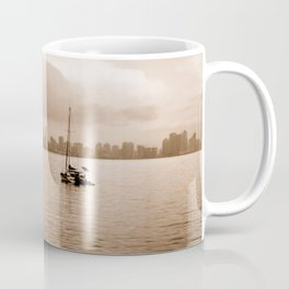 Two sailboats (Sepia) Coffee Mug