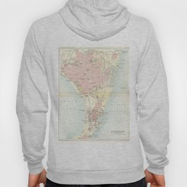 Vintage Map of Bombay India (1893) Hoody