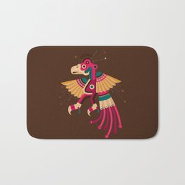 """Chiconcuetzalli"" The Scarlet Bath Mat"