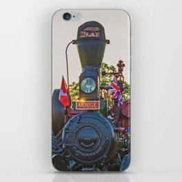 Moose traction engine at sunset iPhone Skin