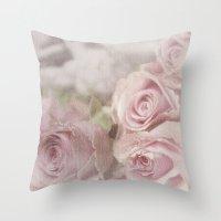 leonardo dicaprio Throw Pillows featuring Leonardo by Susie Peacock