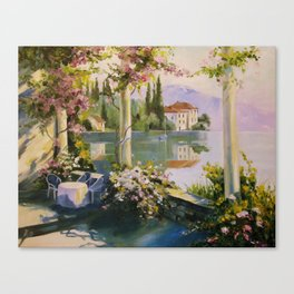 Italian veranda Canvas Print