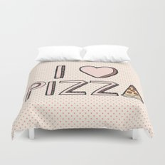 I Love Pizza Duvet Cover