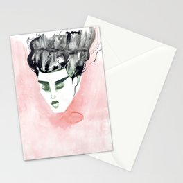 Windy Falling Head Stationery Cards