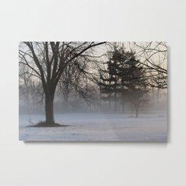 Fog and Snow Metal Print