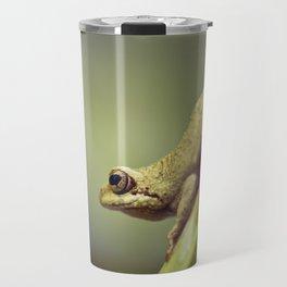 Arum lily frog on blue background - Macro Photography #Society6 Travel Mug