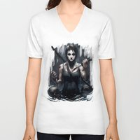 tomb raider V-neck T-shirts featuring Tomb Raider by Max Grecke
