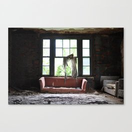 silence in the attic Canvas Print