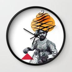 Lettering is a Maharaja's turban Wall Clock
