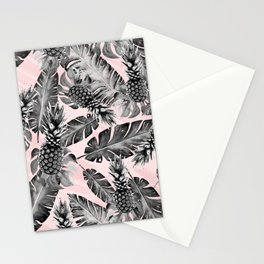 Leaves and pineapples pattern Stationery Cards
