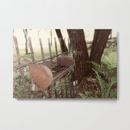 Found Country Fence Metal Print
