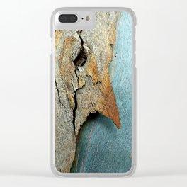 Eucalyptus tree bark texture 10 Clear iPhone Case
