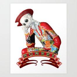 Calavera Hombre Art Print
