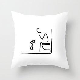 toilet digestion irritant bowel Throw Pillow