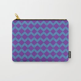 Purple Blue Moroccan Tile Pattern Carry-All Pouch
