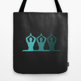 Teal Yoga Tote Bag