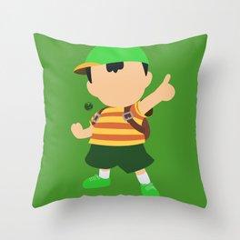 Ness(Smash)Green Throw Pillow