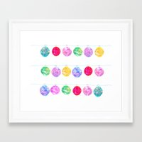 lanterns Framed Art Prints featuring Lanterns by Kara Hayley