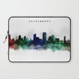 Sacramento Watercolor Skyline Laptop Sleeve