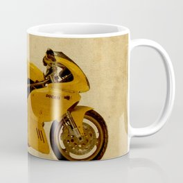 motorcyle yellow artistic vintage background Coffee Mug