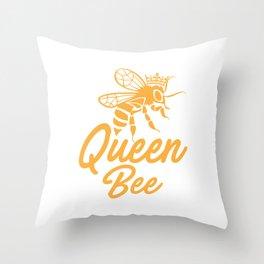 Queen bee, God Save The Queen, Bee Lover Gift, Beekeeper Gift Throw Pillow