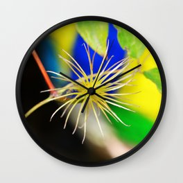 Clematis bloom is gone Wall Clock