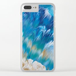 WAVES OF BLUE Clear iPhone Case