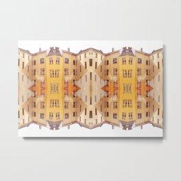 city house pattern Metal Print