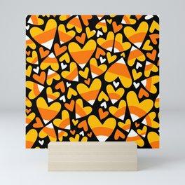 Halloween Candy Corn Hearts Mini Art Print
