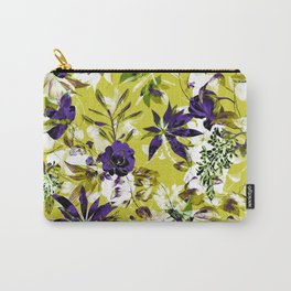 Vibrant floral abstract pattern Carry-All Pouch