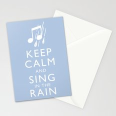 Keep Calm and Sing in the Rain Stationery Cards