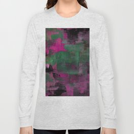 Deep Purple - Abstract, textured painting Long Sleeve T-shirt