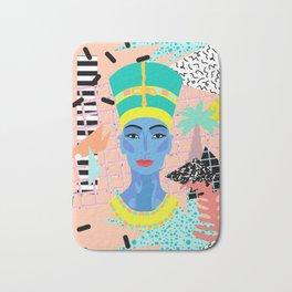 Postmodern Nefertiti Bath Mat