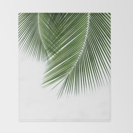 Delicate palms Throw Blanket