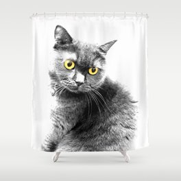 Muimui 4 Shower Curtain