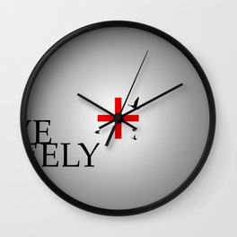 Live Freely Wall Clock