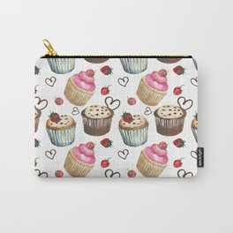 Watercolor cupcakes Carry-All Pouch