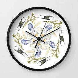 Tide Pool Beach Mandala 1 - Watercolor Wall Clock