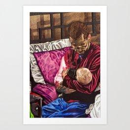 Father & Son Art Print