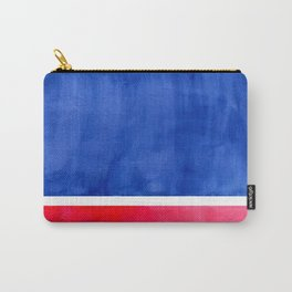 Rothko Abstract Mid Century Modern Minimalist Colorful Simple Nautical Red Blue Carry-All Pouch