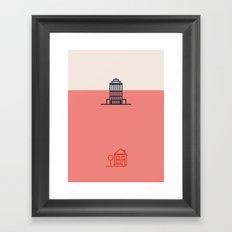 City to Village Framed Art Print