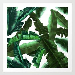 tropical banana leaves pattern 2 Art Print
