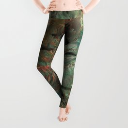 Roses in abstract shapes Leggings