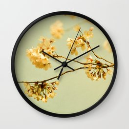 vintage cherry blossoms Wall Clock