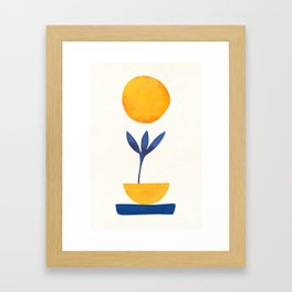 Sunny Sprout / Abstract Shapes Framed Art Print