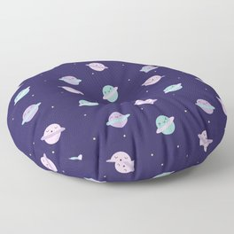 Kawaii Pastel Planets Floor Pillow